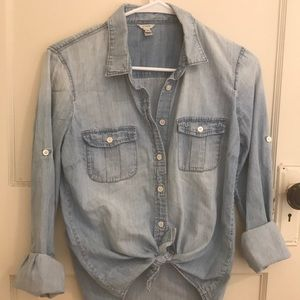 J. Crew Chambray Button Up